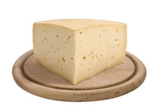 Quarter of a form of Asiago cheese Stock Photography