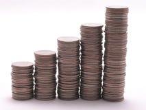 Quarter graph 3 Royalty Free Stock Image