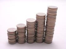 Quarter graph 4 Stock Image