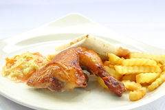 Quarter grill chicken Stock Photos