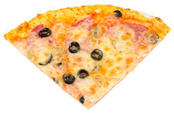 Quarter of pizza Stock Photography