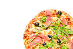 Quarter pizza Royalty Free Stock Images