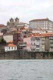 Quarter of Ribeira in portuguese town of Oporto stock photo