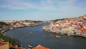 Quarter of Ribeira to Porto stock video
