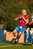 Quarterback. UCLA Bruin Quarterback about to throw the ball during practice Royalty Free Stock Photo