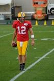 Quarterback Aaron Rodger der Green Bay-Verpacker Lizenzfreie Stockbilder