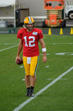 Quarterback Aaron Rodger of the Green Bay Packers Royalty Free Stock Images