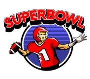 Quarterback Badge Stock Images