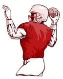 Quarterback, der einen Durchlauf wirft vektor abbildung