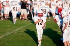 Youth football quarterback Stock Photos