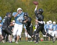 Quarterback pass football stock photos