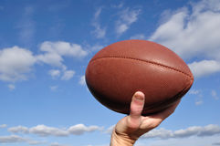 Quarterback Passing an American Football Royalty Free Stock Image