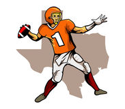Quarterback Texas Team Royalty Free Stock Images