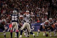 Quarterback Tom Brady Royaltyfri Bild