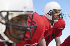 Quarterback Waiting For Snap Royalty Free Stock Image