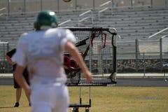 Quarterbackutbildningsutrustning Royaltyfri Foto