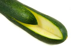 Quartered zucchini Stock Photo