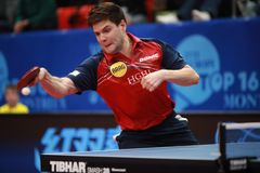 OVTCHAROV Dimitrij topspin royalty free stock photo
