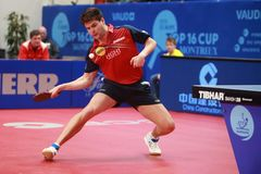 OVTCHAROV Dimitrij topspin royalty free stock image