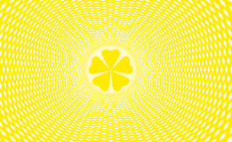 Quarterfoil abstract sun. Quatrefoil quarterfoil abstract yellow sun Stock Illustration