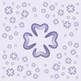 Quarterfoil background. Quarterfoils background for a good luck Royalty Free Stock Image