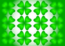 Quarterfoil verde stock de ilustración