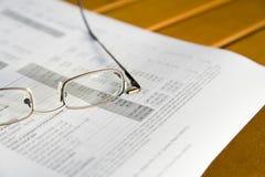 Quarterly Report Stock Image