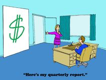 Quarterly Report Stock Images