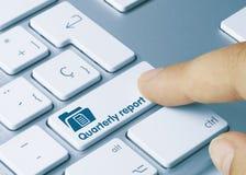 Free Quarterly Report - Inscription On Blue Keyboard Key Stock Photography - 166070622