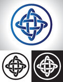 Quarternary celtic knot design Royalty Free Stock Photos