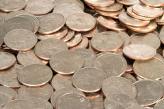 Quarters. Lots of quarters Royalty Free Stock Images