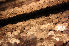 Quarters In An Arcade Game 2 Royalty Free Stock Photography
