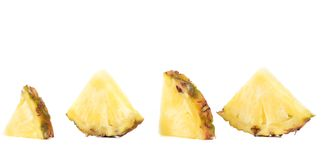 Quarters of slices pineapple. Stock Photography