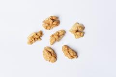 Quarters of Walnuts Stock Image