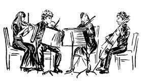 quartet ilustração royalty free