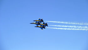 Quartet Formation. Blue Angels stunt, Chicago Airshow 2006 royalty free stock images
