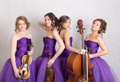 Quartet musical Photographie stock libre de droits