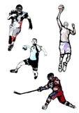 Quarteto do esporte Fotografia de Stock Royalty Free