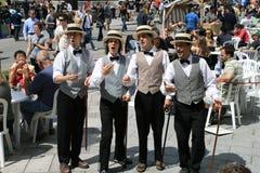 Quartett in einem Kultur-Fest Stockbilder