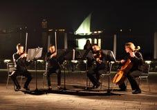 Quartetto della stringa a Doha Fotografia Stock