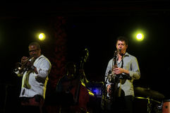 Quartetto 34 di jazz delle sciabole di Phaaoah Immagini Stock