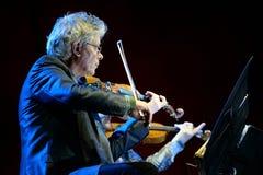 Quartetto di Kronos (quartetto di archi americano), concerto al suono 2014 di Heineken Primavera Immagine Stock