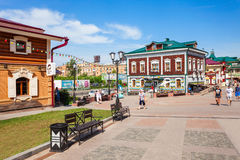 130 quarti di Kvartal, Irkutsk Immagini Stock Libere da Diritti