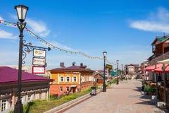 130 quarti di Kvartal, Irkutsk Immagine Stock