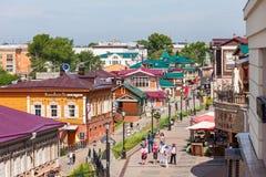 130 quarti di Kvartal, Irkutsk Fotografie Stock