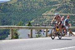 quarti Triathlon del d'Huez del FES Alpe fotografia stock libera da diritti
