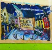 Quartier拉丁语在Gallway的中心 库存照片
