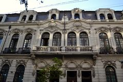 Quartier Bellas Artes Santiago stock foto's
