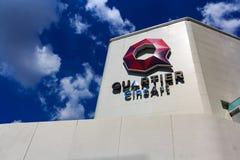 Quartier CineArt是Emquartier商城剧院会议  免版税图库摄影