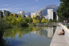 Quartier de Bonne, Grenoble Stock Image